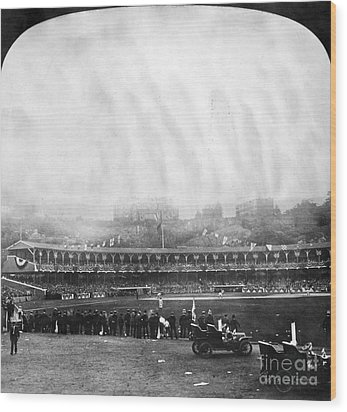 New York: Polo Grounds Wood Print by Granger