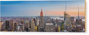 New York Skyline Panorama Wood Print