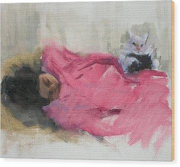 Nicole And Josie Wood Print by Merle Keller