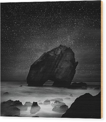 Wood Print featuring the photograph Night Guardian by Jorge Maia