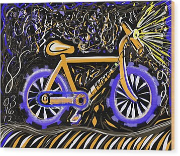 Night Ride II Wood Print by Colleen Proppe