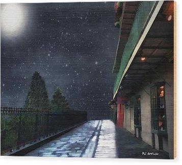 Nightwalk Wood Print by RC deWinter
