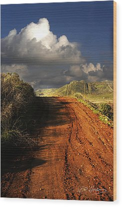 Noble Road Wood Print by Richard Gordon