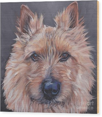 Wood Print featuring the painting Norwich Terrier by Lee Ann Shepard