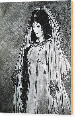 Nostalgia - Woman Of Chughtai  Wood Print