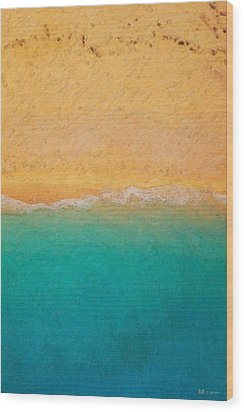 Not Quite Rothko - Surf And Sand Wood Print by Serge Averbukh