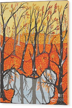 November Morning  Wood Print