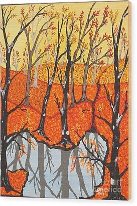 November Morning  Wood Print by Jeffrey Koss