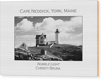 Nubble Light Wood Print by Christy Bruna
