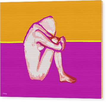 Nude 10 Wood Print by Patrick J Murphy