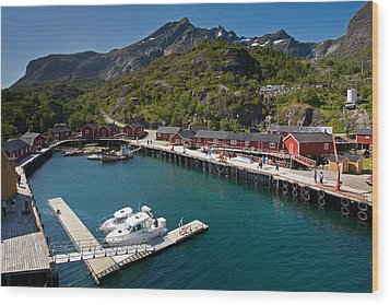 Nusfjord Fishing Village Wood Print