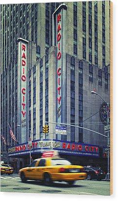 Nyc Radio City Music Hall Wood Print by Nina Papiorek