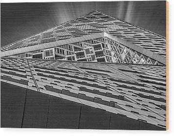Wood Print featuring the photograph Nyc West 57 St Pyramid by Susan Candelario