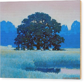 Oak Tree Wood Print by Kevin Lawrence Leveque