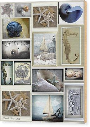 Ocean Wisper Wood Print