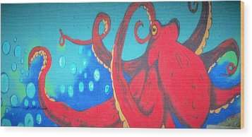 Octopus Wood Print by Martin Cline