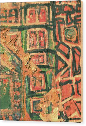 Off My Meds Wood Print by Anne-Elizabeth Whiteway
