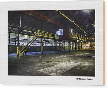 Office Wood Print by R Thomas Berner