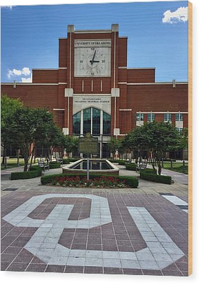 Oklahoma Memorial Stadium Wood Print by Center For Teaching Excellence