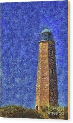 Old Cape Henry Lighthouse Wood Print