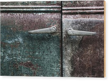 Wood Print featuring the photograph Old Car Weathered Paint by Carol Leigh
