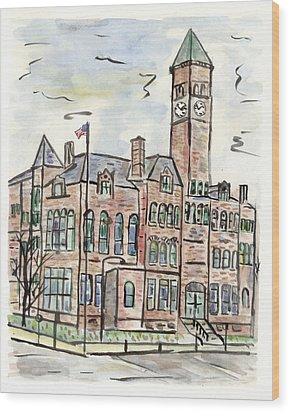 Old Courthouse Museum Wood Print by Matt Gaudian