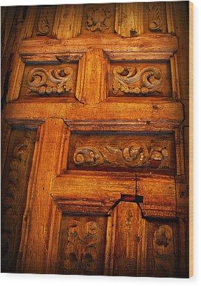 Old Door Wood Print by Perry Webster