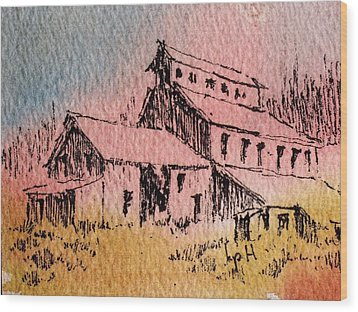 Old Mill Cable Ghost Town Montana_ Wood Print by Kevin Heaney