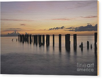 Wood Print featuring the photograph Old Naples Pier by Kelly Wade