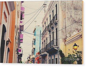 Old San Juan Puerto Rico Wood Print by Kim Fearheiley