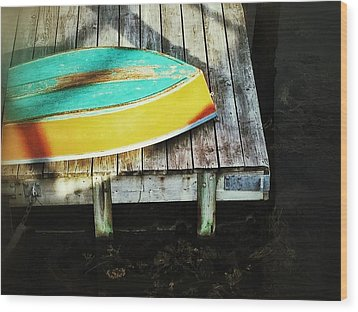 Wood Print featuring the photograph On Deck by Olivier Calas