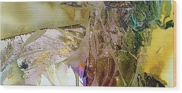 Wood Print featuring the painting On Gossamer Wing by Mary Sullivan