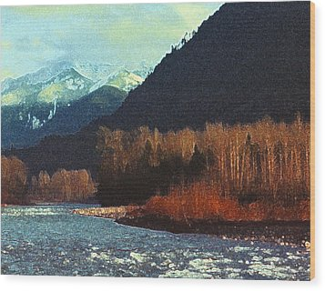 Wood Print featuring the photograph On The Squamish River 2223 by Lyle Crump