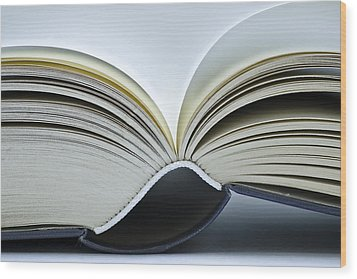 Open Book Wood Print