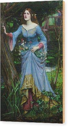 Ophelia Wood Print by John William Waterhouse