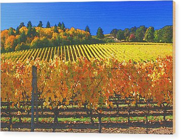 Oregon Wine Country Wood Print