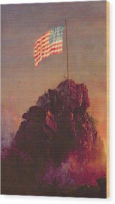 Our Flag Wood Print by Frederic Edwin Church