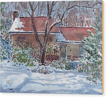Our House Wood Print by Donald Maier