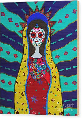 Our Lady Of Guadalupe Wood Print by Pristine Cartera Turkus