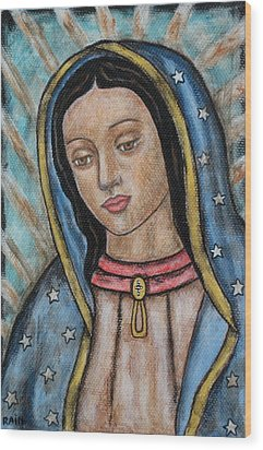 Our Lady Of Guadalupe Wood Print by Rain Ririn