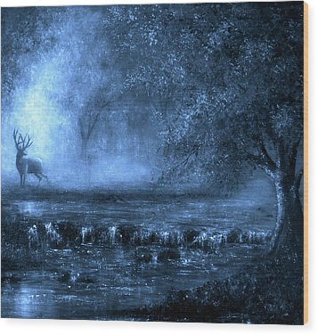 Out Of The Blue Wood Print by Ann Marie Bone