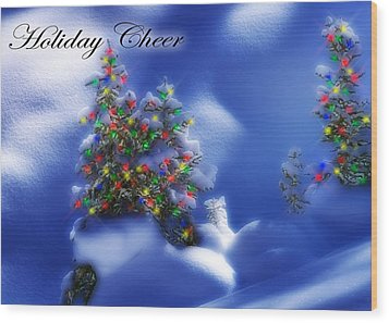 Outdoor Christmas Trees Wood Print by Utah Images