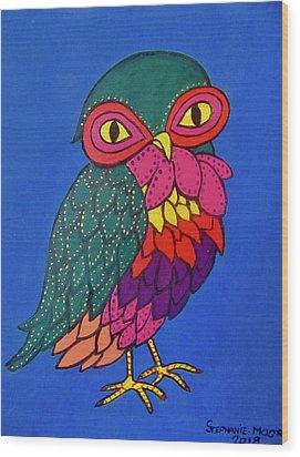 Owl Wood Print by Stephanie Moore
