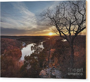 Wood Print featuring the photograph Ozark Sunset by Dennis Hedberg