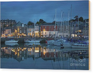 Wood Print featuring the photograph Padstow Evening by Brian Jannsen