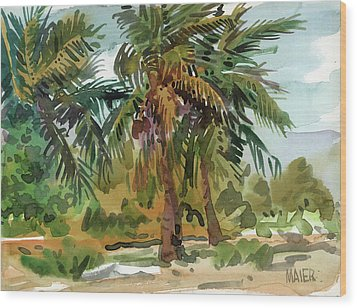 Palms In Key West Wood Print