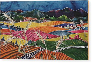 Palouse Fields Wood Print by Carolyn Doe