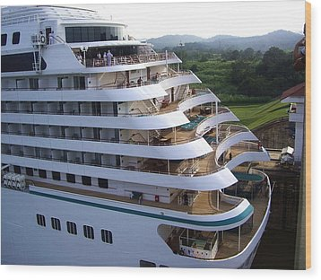 Panama Canal  At Work. Wood Print by Nereida Slesarchik Cedeno Wilcoxon