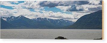 Panorama Of Beluga Point Wood Print