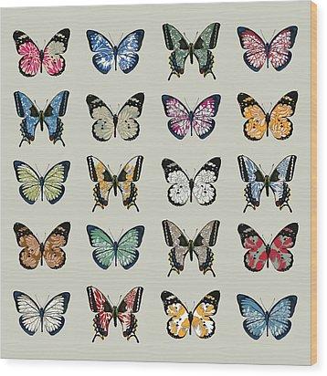 Papillon Wood Print by Sarah Hough